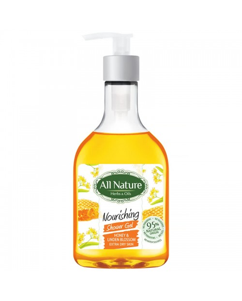 Shower Gel All Nature Honey and Lime Color